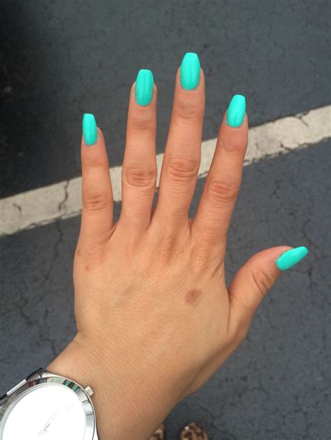 teal color nails best 25 teal acrylic nails ideas on blue