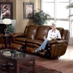 catnapper sonoma dual reclining leather sofa in sable