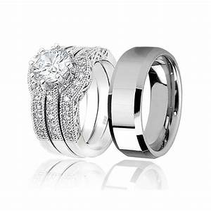 Awesome men and women matching wedding bands matvukcom for Men and women matching wedding rings