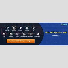 Ugc Net Syllabus June 2019 [updated]  Download All Subjects Pdf Here