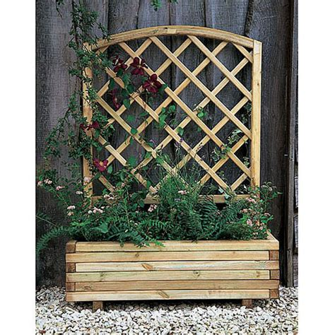 Buy Trellis by Buy Forest Garden Products Toulouse Wooden Planter With