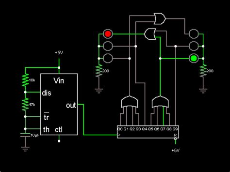 Simple Light Circuit That Uses Decade Counter Drive