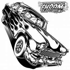 chevy for chrom flammen design2016 artwork With 1955 chevy hot rods