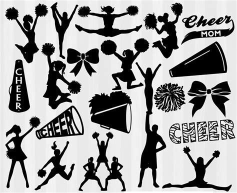 megaphone clipart large cheer svg bundle 20 cheerleading cuttable designs