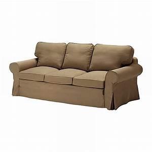 ikea ektorp 3 seat sofa slipcover cover idemo light brown With ikea sofa cover