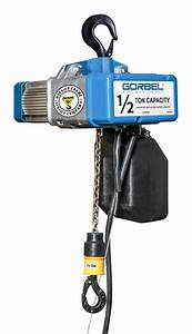 Gorbel Gs 1 Ton Electric Chain Hoist - 10 Ft  Lift