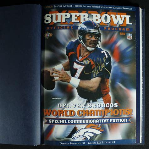 John Elway Signed Denver Broncos Super Bowl Xxxii Program
