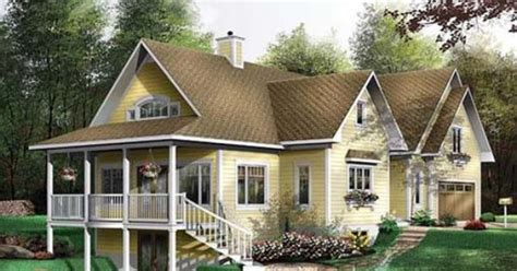 hillside house plans with walkout basement510×354