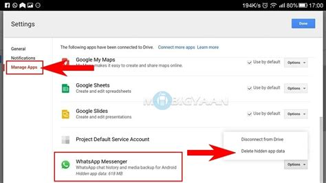 how to delete whatsapp backup from drive android guide