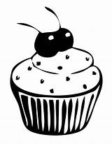 Coloring Cupcake Cupcakes Cherries Kitty Netart Hello Clip Snoopy sketch template