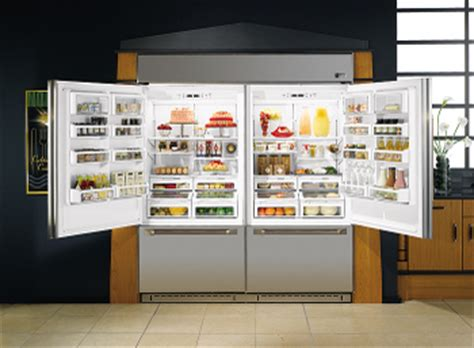curtains huge fridge cools modern kitchens
