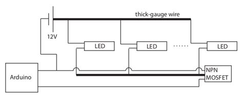Wiring Led In Parallel by Power Wiring Led Strips In Parallel Ground Arduino