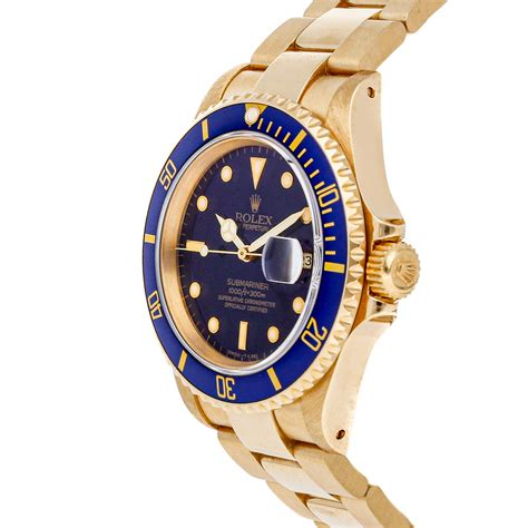 Rolex Submariner Date Auto 40mm Yellow Gold Mens Oyster ...