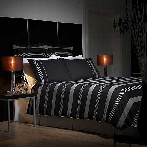 J By Jasper Conran Black 'park Avenue' Bed Linen At