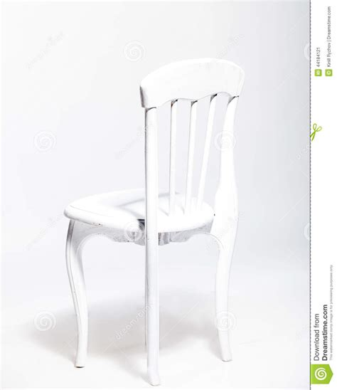 white wooden chair  white background  studio