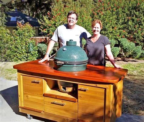 custom  cedar redwood grill  vintage cherry