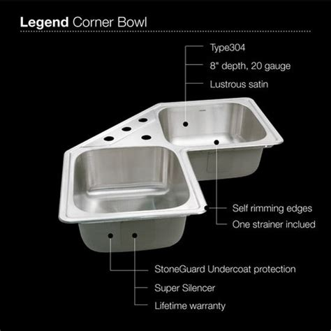 corner sink floor mat legend series topmount corner bowl kitchen sink by houzer