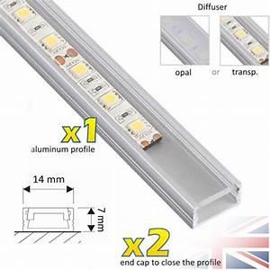 Led Strip Profil : 1 meter aluminium channel for led strip light cover pvc profile slim diffuser ebay ~ Buech-reservation.com Haus und Dekorationen