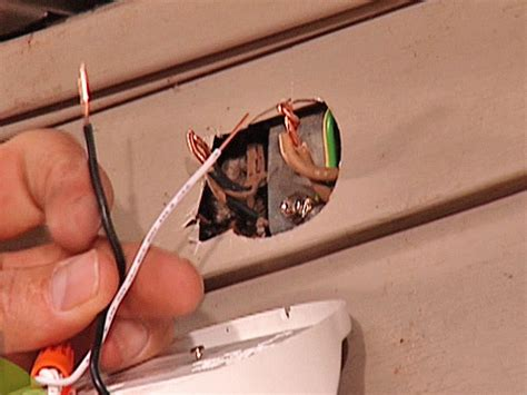 install exterior light without junction box install a security light how tos diy
