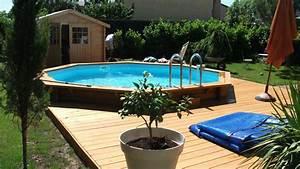 merveilleux amenagement autour d une piscine hors sol 8 With amenagement autour piscine hors sol