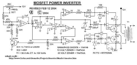 sirkitelektronika rangkaian inverter 1000 watt