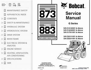 Bobcat 873  883 Turbo Hf Loaders G Series Service Manual