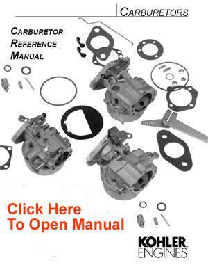 kohler carburetor service parts list opeenginescom