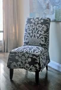 slipcovered parsons chair design  elisha howell