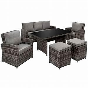 Salon De Jardin Miami : salon de jardin miami fauteuils tabourets canap table pas cher tectake ~ Melissatoandfro.com Idées de Décoration