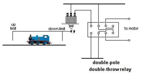 reversing dc motor using relay and limit switches all about circuits