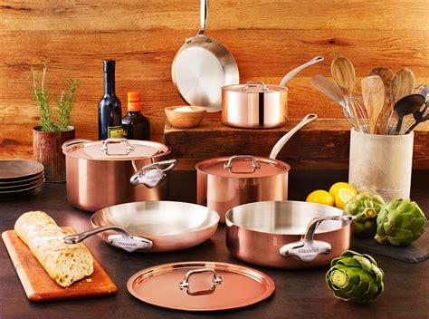 mauviel copper cookware set  pieces ms