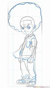 How To Draw Huey Freeman Step By Step Drawing Tutorials