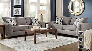 Bonita Springs 7 Pc Gray Living Room - Living Room Sets (Gray)