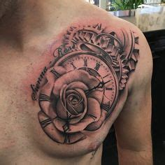 chest  arm sleeve  rose dove  clock venice tattoo art designs tattoos chest