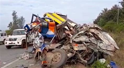 Dharwad Road Accident: 13 killed, 7 Injured in Head-on ...