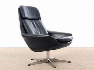 Fauteuil Pivotant Cuir : fauteuil scandinave pivotant en cuir galerie m bler ~ Teatrodelosmanantiales.com Idées de Décoration