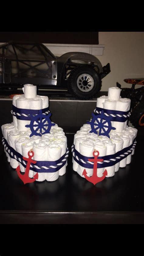 boat diaper cake  nautical baby shower baby shower
