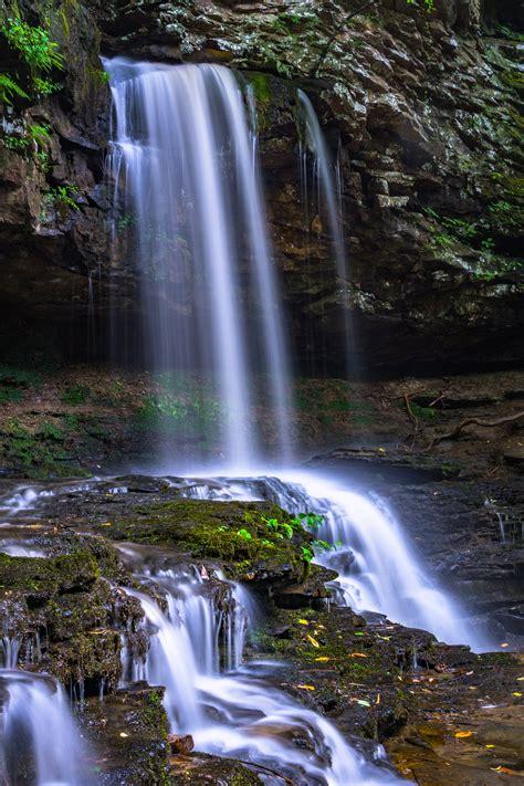 waterfalls  gray rock  stock photo