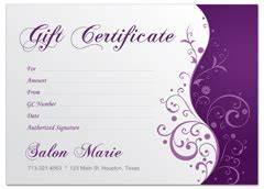 modern salon gift certificate for spa hair stylist With hair salon gift certificate template free