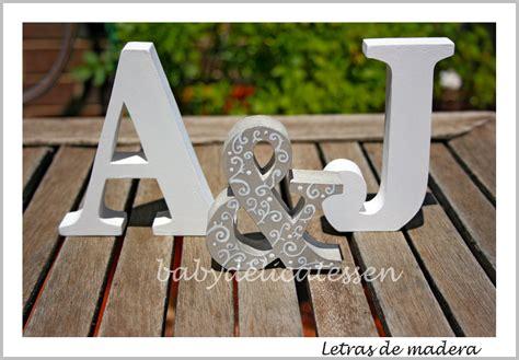 baby delicatessen letras de madera letras para novios