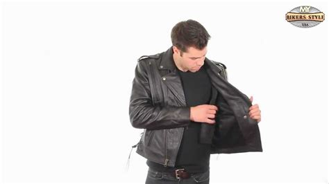 Xelement B7210 Jacket Mens Leather Vented Cool Rider