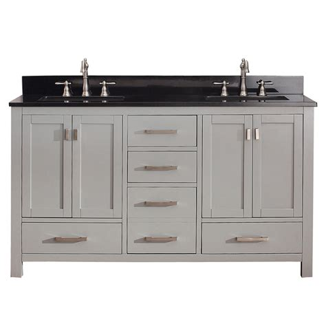 gray double sink vanity shop avanity modero chilled gray undermount double sink