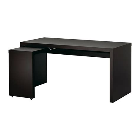 ikea malm bureau malm desk with pull out panel black brown ikea
