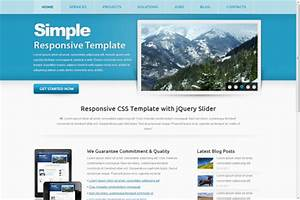Simple responsive html5 theme for Simple html5 templates free download