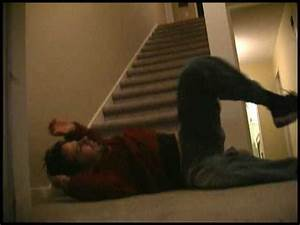A guy falls down stairs... - YouTube
