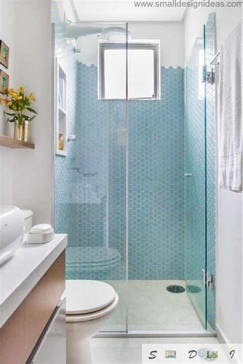 extra small bathroom design ideas  neat blue mosaic