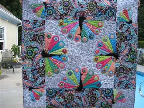 peacock quilt pattern happy appliquer proud as a peacock
