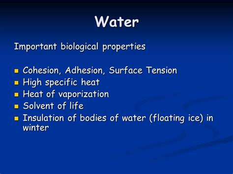 Why Are The Unique Properties Of Water So Essential To Life?  Ppt Download