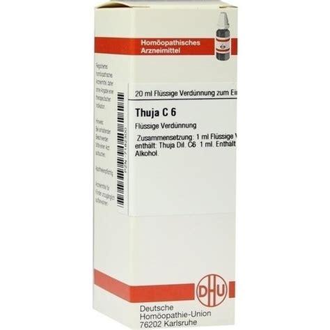 Thuja homöopathie nebenwirkungen