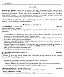 10 executive administrative assistant resume templates With administrative resume templates free